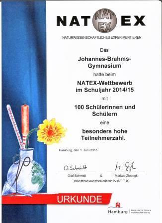 Natex 2015 Urkunde
