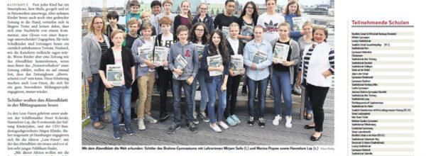 Unser Ausflug zum Hamburger Abendblatt am 14.06.2016