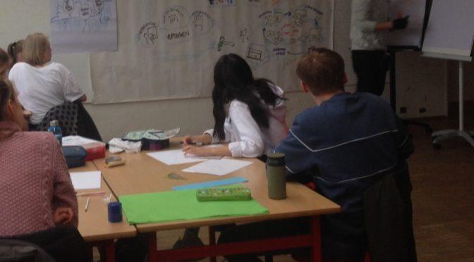 Die Schüler des Kulturprofils probieren sich als Visualisierer und Kunstpioniere
