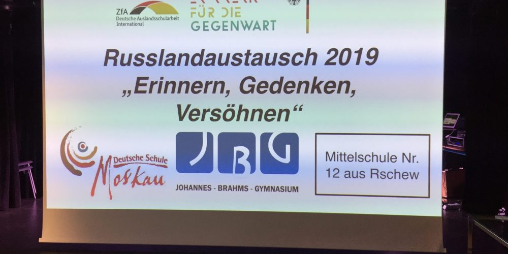 Deutsch-russischer Jugendaustausch zum ersten Mal in Bramfeld